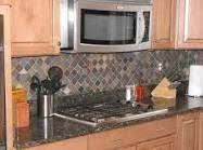 Slate Backsplash Kitchen Okay Here U0027s The Look Our Dark Cabinets With A Lighter Granite