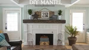 kammy u0027s korner beautiful built mantel from scraps fireplace 2