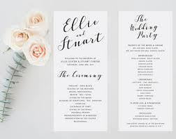 simple wedding program wedding ceremony wedding programs ceremony program