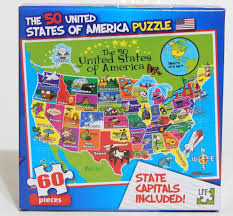 Kids Map Of The United States by 50 United States Of America Kids Puzzle With State Capitals