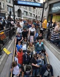 Long Journey How Commuters Cope by Tube Strike Begins As London Commuters Pack Onto Last Underground