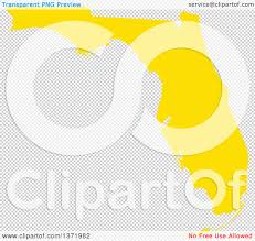 Map Of The State Of Florida by Clipart Of A Yellow Silhouetted Map Shape Of The State Of Florida
