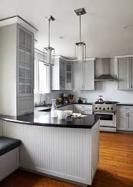 kitchen cabinet island design ideas black kitchen countertop design with white island and grey colored