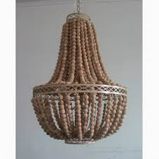 wood bead ceiling light modern hanging large natural wooden beads pendant l led lights