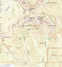 Map Of Utah Parks by Topographic Map Of The Riggs Spring Trail Bryce Canyon Utah