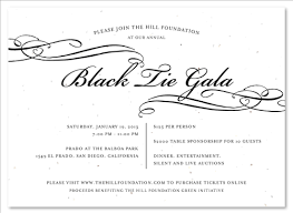 unique invitations you can plant black tie gala by green
