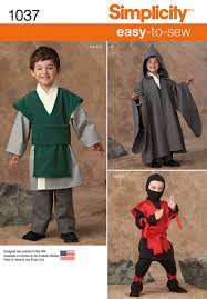 sewing pattern ninja costume simplicity 1037 boys easy to sew costumes