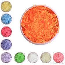 decorative shred 100g pack multi color fashion craft shredded crinkle paper basket