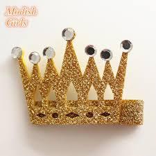 felt hair modish frozen glitter cryatal glitter crown felt hair