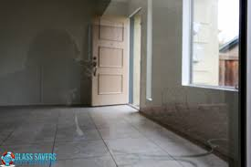 sliding glass door with doggie door dog scratches in sliding glass door removed glass savers