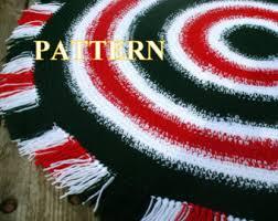 Easy Crochet Oval Rug Pattern Crochet Rug Pattern Etsy