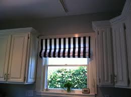 Roman Shades Black - beautiful black and white striped roman shades decor with black