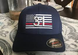 Usa Flag Hats Free Personalization Thin Red Line Fire Fighter Station American