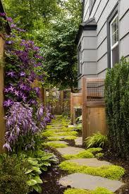 amusing garden landscaping decoration using light grey wood siding