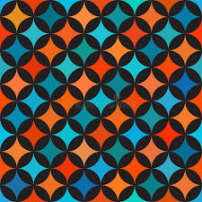 quilt wedding backdrop vector seamless colorful blue orange shades circle quilt