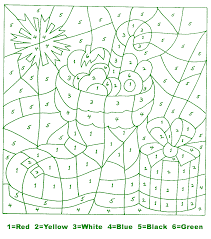 kids holiday crafts christmas color by number stocking
