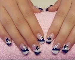 navy blue and white floral nails nail arts pinterest