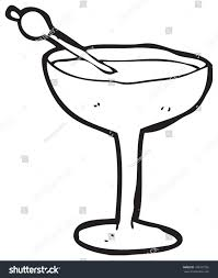 cocktail clipart black and white cartoon cocktail glass stock illustration 100427356 shutterstock