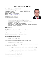 Sample Resume For English Tutor by Curriculum Vitae Examples For English Teachers Create