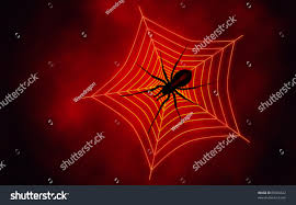 halloween spiders background red spider web background