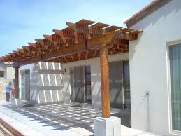 Attached Pergola Plans by Attached Pergola Plans Wood U2014 All Home Design Ideas