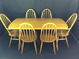 vintage dining room tables mid century vintage elm dining table by chairs second hand ercol