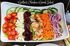 grilled chicken greek salad the complete savorist