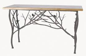 Pine Console Table Hand Forged Pine Branch Console Table The New Rustic