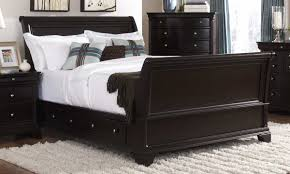Black Leather Sleigh Bed Homelegance Inglewood King Sleigh Storage Bed Inglewood