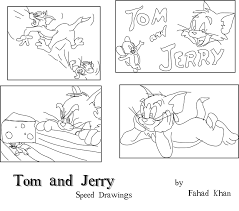 tom jerry speed drawings fahadkhan deviantart