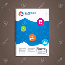free templates for hotel brochures brochure or flyer design hotel services icons washing machine