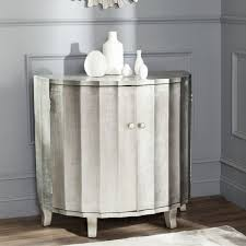 Silver Leaf Nightstand Safavieh Rutherford Demilune Silver Leaf Cabinet Free Shipping