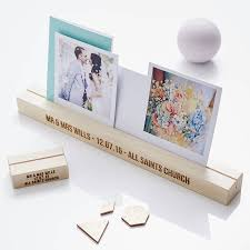 personalised wedding gift wooden photo block by sophia victoria