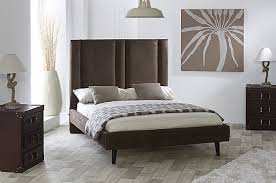 Suede Bed Frame Fabric Bed Frame Mocha Faux Suede Limelight Beds