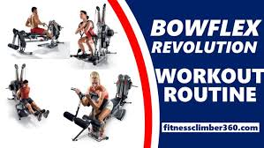 Bowflex 3 1 Bench A Complete Bowflex Revolution Workout Plan With Exercise Charts
