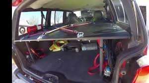 back of a jeep jeep cherokee xj rear cargo mods youtube