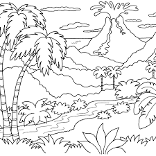 free printable coloring pages for adults landscapes coloring pages landscapes fearsome for kids lmj page mountain pass
