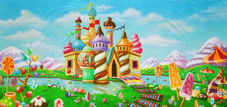 candyland castle b scenic stage backdrop rental theatreworld