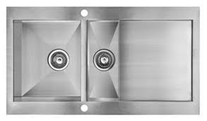 Cooke  Lewis Unik  Bowl Brushed Stainless Steel Kitchen Sink - Brushed steel kitchen sinks