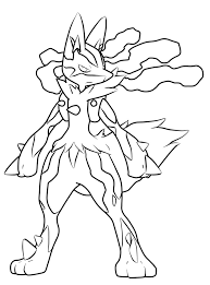 lucario coloring pages to download and print for free