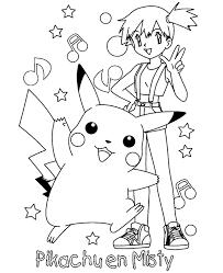 pokemon coloring pages misty kleurplaat pokemon pikachu en misty flevokids kleurplaten
