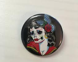 sugar skull pin up etsy