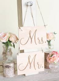 mr and mrs sign for wedding rustic wood mr and mrs chair signs calligraphy country barn