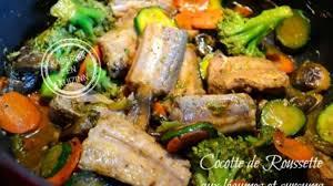 cuisiner roussette cocotte de roussette ou saumonette aux légumes bio et curcuma