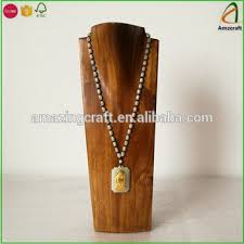 display necklace images Wholesale solid necklace display bust wood jewelry stands buy jpg