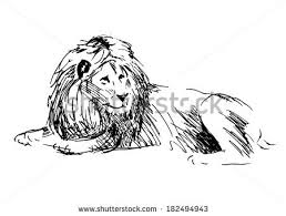 hand sketch lion head vector illustration stock vector 587673674