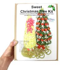 make your own sweet christmas tree kit polystyrene cones