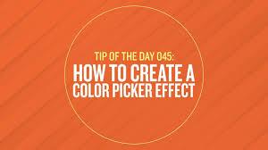 easily script a color picker effect in after effectscg beer cg beer