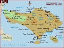 bali indonesia map map of bali