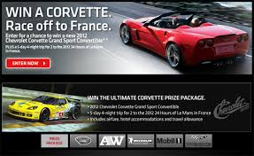 race to win corvette the race to win a corvette contest is now open corvette